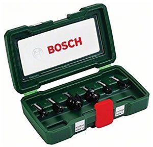 Bosch 2607019463 Coffret de 6 fraises Queue 8mm