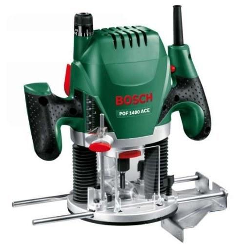 Bosch Défonceuse « Expert » POF 1400 ACE à régulation électronique constante – Réglage de la profondeur de fraisa